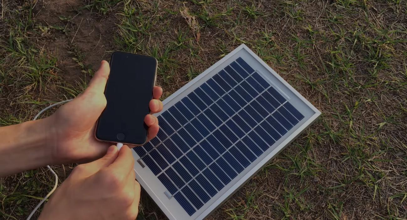 Солнечная батарея для зарядки телефона , проверка и доработка