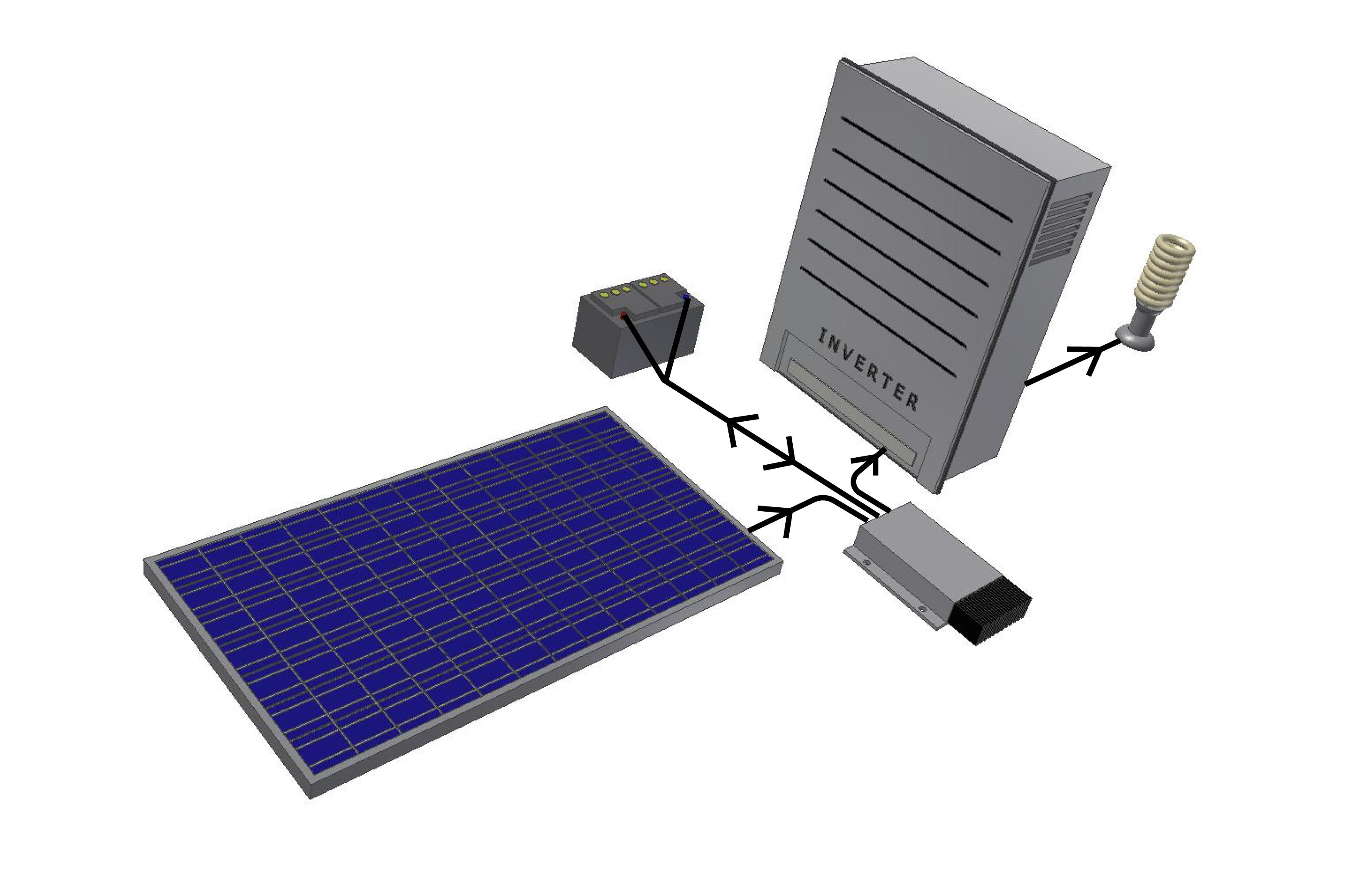 Схемы подключения солнечных батарей