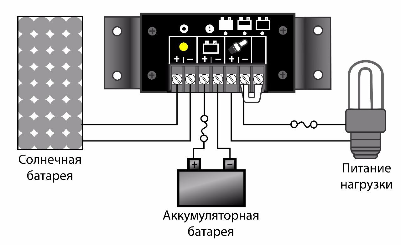 схема подключения блока-регулятора